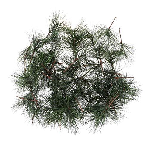 oshhni 50 Piezas de Plantas Artificiales, Ramas de Agujas de Pino, Regalos de Fiesta de Navidad, Embalaje