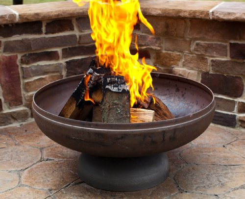 Ohio Flame 30' Patriot Fire Pit (Made in USA) - Natural Steel Finish