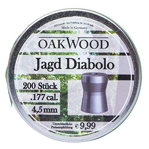 Oakwood Jagd Diabolo Kal. 4,5mm 200 Stück Luftgewehr Munition Luftpistole