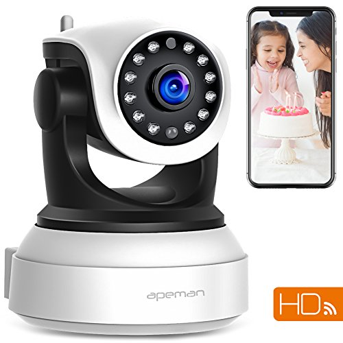 APEMAN WiFi IP Camera 720P Wireless Home Security Surveillance CCTV Camera with Night Vision Baby...