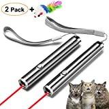 FYNIGO Cat Toys Wand,Interactive Light Toy for Cats and Dogs,2 in 1 Function