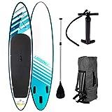 SUP Board Stand up Paddling Surfboard'Relax' 320x76x15cm aufblasbar Double-Layer Alu-Paddel Hochdruck-Pumpe Transportrucksack 130KG Tragkraft