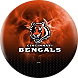 NFL Cincinnati Bengals On Fire Undrilled Bowling Ball