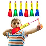 US Sense 6 Pack LED Foam Finger Rockets Glowing Flying Toys for Boys Girls Birthday Party Favors, Fun Outdoor Group Camping Beach Garden Outdoor Sports Toy