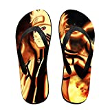 Naruto Anime Flip Flops Beach Sandals Thong Slippers for Indoor Outdoor Bathroom Shower Black