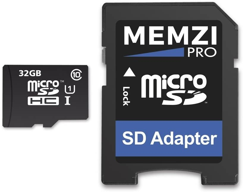 MEMZI PRO 32GB Class 10 90MB/s Micro SDHC Memory Card with SD Adapter for Garmin Nuvi 2500 Series Sat Nav's