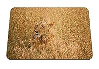 22cmx18cm マウスパッド (ライオンは獣の捕食者の王を隠す) パターンカスタムの マウスパッド