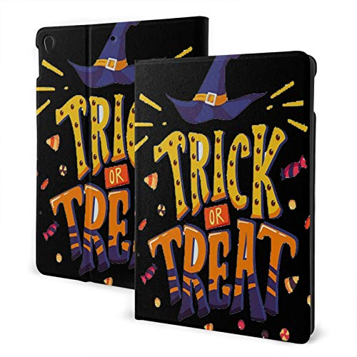 Halloween Trick or Treat is for Kids Ipad Case air3 & pro TPU Protective Stand Cover with Auto Sleep Wake Up Ipad for IPad 10.5' Tablet