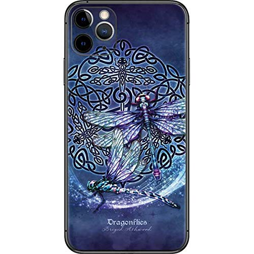 Skinit Decal Phone Skin Compatible with iPhone 11 Pro Max - Tate and Co. Dragonfly Celtic Knot Design