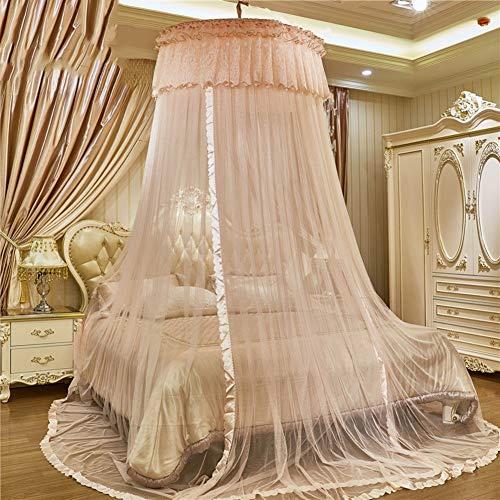 Irinay European Princess Dome Cama Suspendida Chic con Casual Dosel Mosquitera Doble Hogar Encriptar Cortina De Mosquito Engrosada B Twin1 (Color : Colour, Size : Size)