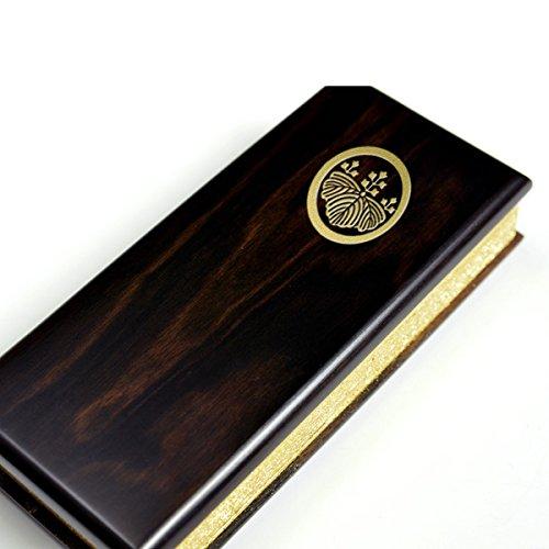 仏縁堂ブランド:過去帳は別売り【過去帳表紙への文字入れ代「家紋」】表紙は唐木タイプ