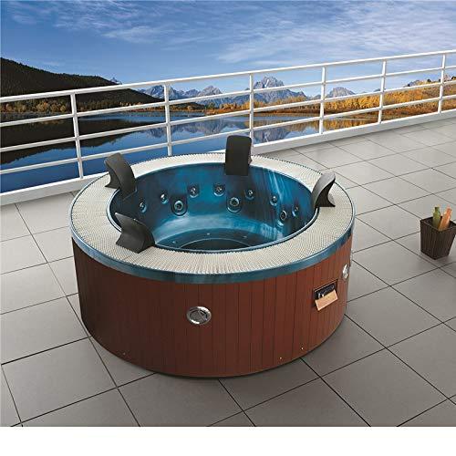 Haisland M-3329 - bañera de hidromasaje con diseño de moda de 2019, al aire libre ,espá redondo, jacuzzi