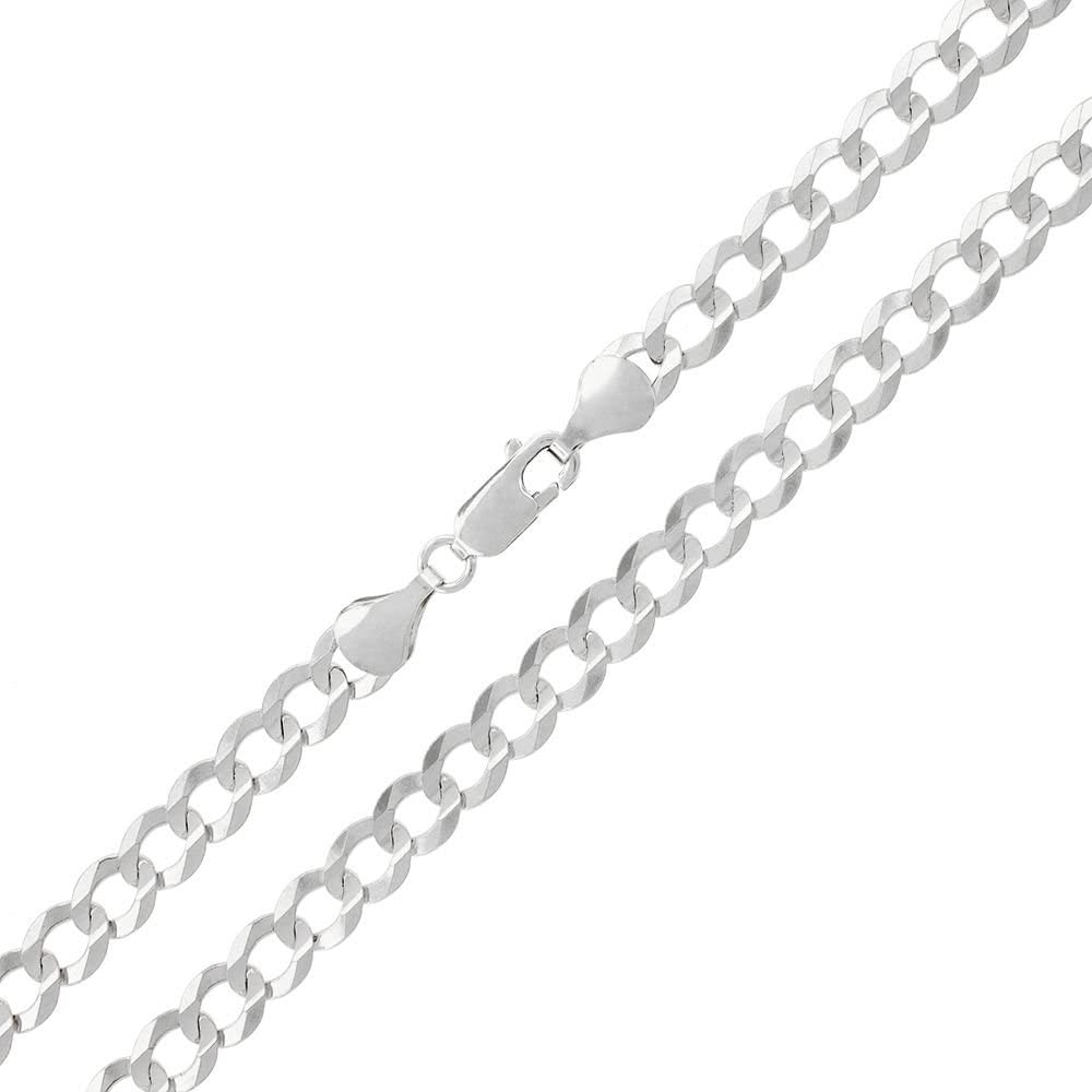 Capital Jewelry Genuine Solid Sterling Cuban Branded goods .9 Curb New popularity Silver Link