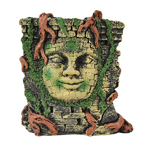 OMEM Reptiel benodigdheden Terrarium Landscaping Slang Lizard Spin Maya Masker Decoratie