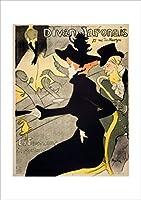 ポスター ロートレック 『ディヴァン・ジャポネ』 A3サイズ【返金保証有 日本製 上質】 [インテリア 壁紙用] 絵画 アート 壁紙ポスター