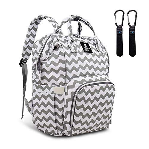 Hafmall Diaper Bag Backpack - Waterproof Multifunctional Large Travel Nappy Bag (Chevron)