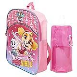 Paw Patrol Backpack Combo Set - Paw Patrol 3 Piece Backpack Set - Chase, Marshall, Zuma, Skye, Rubble & Rocky (Pink)