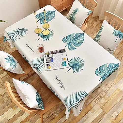 Baumwolle Tischdecken im Stil, Tischdeckenbezug Leinen Waschbar Tischdecke für,60x120CM