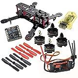 powerday DIY 250 Quadcopter H250 Racing Drone Frame Kit&T2204 2300KV Motor & Simonk 20A ESC & CC3D Flight Controller & 5045 Hélice & Matek Power Hub