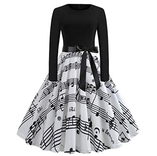 """Damen elegant 50er Jahre Petticoat Kleider Drucken Abendkleider Rockabilly Kleider Cocktailkleider Ã""""rmellos Kleidung Abendkleider Partykleid Knielang Kleid Mit Gürtel"""