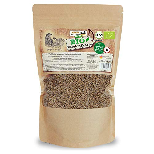 WachtelGold ProNatur-Wachtelkorn 800g - Wachtelfutter Pellets - Bio Legekorn Biofutter