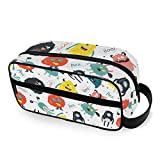 Cute Funny Monsters Toiletry Bag Portable Cosmetic Bags Travel Makeup Bag Pouch Wash Gargle Bag Outdoor Toiletries Bag Organizer Cosmetic Travel Bag for Women Girls Men