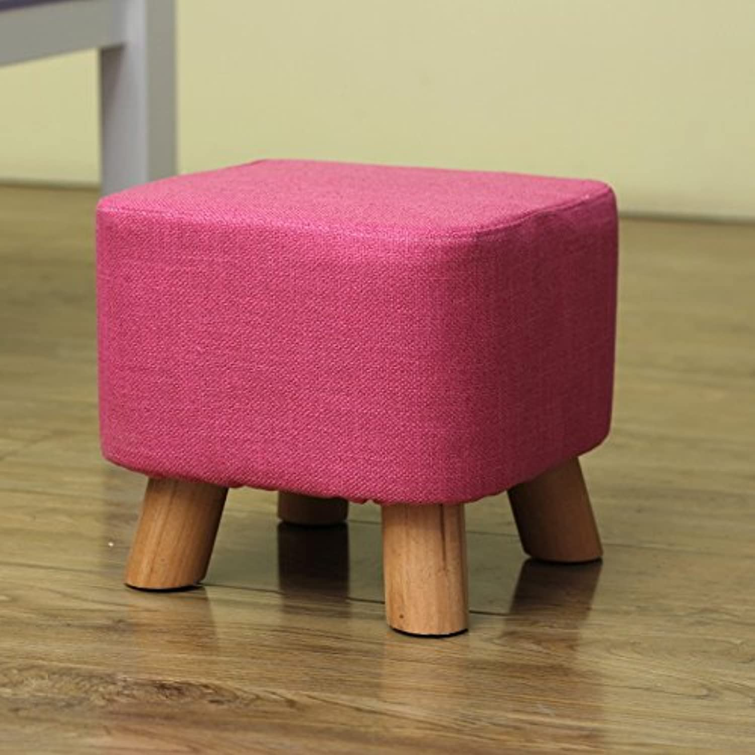 Dana Carrie Sofa Chairs Stylish and Creative Party stool Solid Wood Changing shoes stool Dressing Bench wear shoes Bench Seating, Coffee is Served by The Implementation of The Footstool, Red