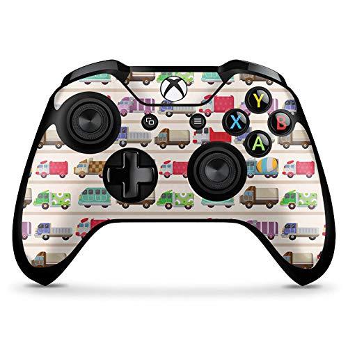 DeinDesign Skin kompatibel mit Microsoft Xbox One X Controller Aufkleber Folie Sticker Fahrzeug Auto Trucks LKW Colourful