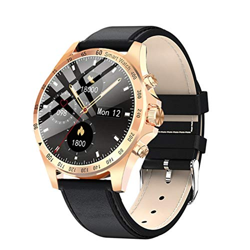 KMF Reloj Inteligente para Hombres, IP68 Impermeable Tasa Cardíaca A Prueba De Agua Monitor De Presión Arterial De Sueño Pantalla Táctil Completa Deportes Fitness Reloj De Moda,D