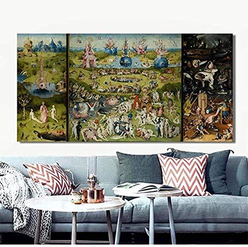 TTbaoz Puzzle 1000 Puzzleteile, irdischer Puzzle-Garten Bosch Hieronymus, klassisches Malpuzzle 70 * 50CM