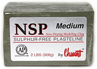 Chavant Clay - NSP Medium Green - Sculpting and Modeling Clay (1/4 Case)