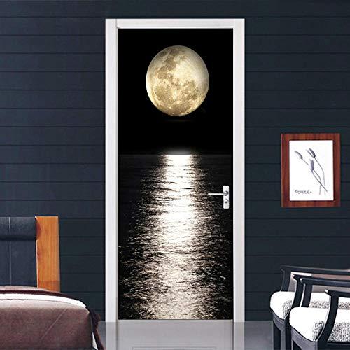 Autocollant De Porte 3D Amovibleautocollant 3D Beautiful Moon Gate