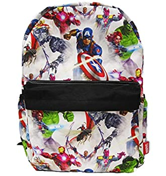 Marvel Avengers 16 inch All Over Print Deluxe Backpack With Laptop Compartment