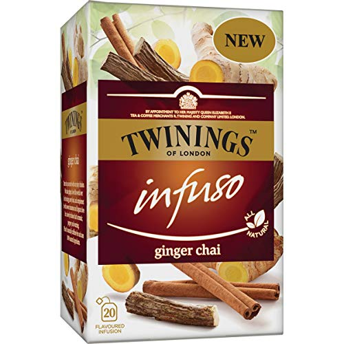 Twinings of London - Ginger Chai Infusion - Chai Tea Infusion with Ginger and Spices - (Cinnamon - Cloves) - Ideal for Ginger Lovers -40 Grammi