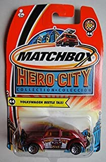 MATCHBOX HERO CITY COLLECTION RED VOLKSWAGEN BEETLE TAXI #44