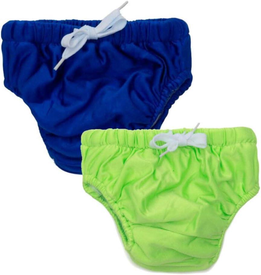 KaWaii Baby Reusable Swim Diaper Stretchy Mesh Layer Boys & Girls 2-Pack - Large.