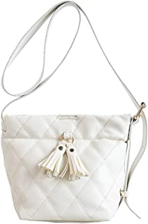 Runhuayou Retro New Dainty Trend Insouciant Fashion Portable Slung Shoulder Small PU Handbag Great for Casual or Many Other Occasions Such (Color : White)