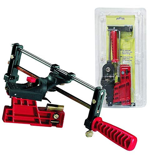 PROMOTOR Bar-Mount Chain Saw Sharpener, Manual Chainsaw Sharpening Filing Guide Bar