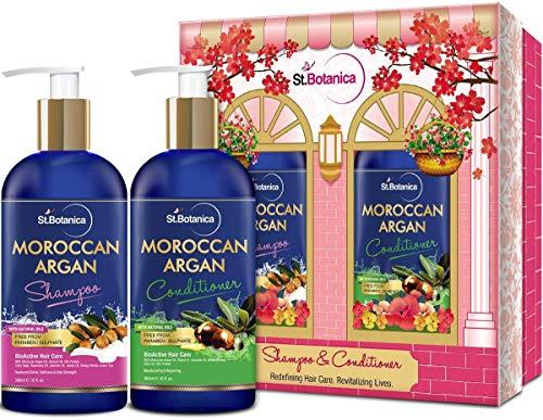 Glamorous Hub StBotanica Moroccan Argan Hair Shampoo + Argan Hair Conditioner 300ml (el empaque puede variar)