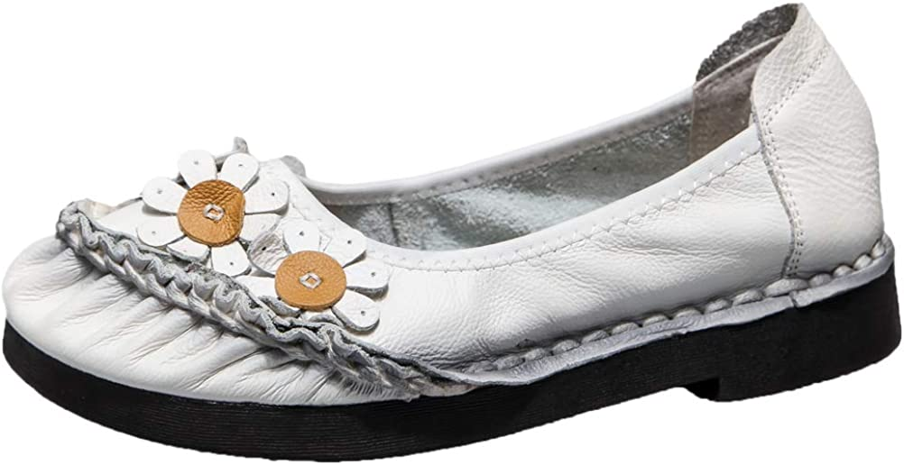 Mordenmiss Women's Leather Sale Complete Free Shipping Loafers Flat Out On Floral Shoes Slip