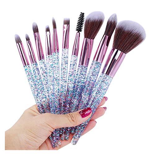 10 unids Conjunto de OT Conjunto de pinceles de maquillaje Herramienta de cosméticos Kit de cosméticos de alta calidad Cepillo de artista natural Pincel Fundación Fundación Foundation Face Sombreado d