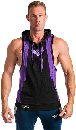 53c17cf4d35 FLEX-N-FLEX Men's Bodybuilding Sleeveless Hoodie Muscle Tank Top Gym  Stringer Vest Pullover