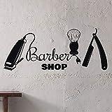 HGFDHG Barbería Tatuajes de Pared barbero salón de Belleza Logo Hombre salón...