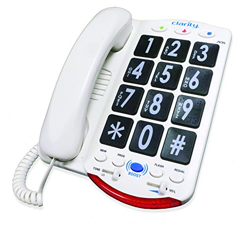 Clarity JV35 Amplified Corded Phone with Talk Back Numbers
