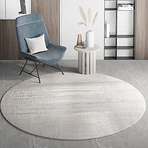 Grigio nordico tappeti rotondi 80 cm 100 cm 120 cm 140 cm 160 cm 180 cm 200cm tappeto per divano tavolino tavolino tappetino tappetino tappetino tappetino per il mantello ( Size : Diametro 120cm )