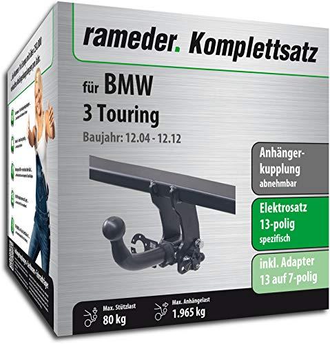 Rameder Komplettsatz, Anhängerkupplung abnehmbar + 13pol Elektrik für BMW 3 Touring (113167-05430-1)