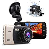 Tvird Dash Cam 1296P Dash Camera [Newest Updated] 170°Wide Angle Car DVR with 4'' LCD Screen,Front and Rear Dual Channel Dashboard Camera,G-Sensor,Motion Detection,Parking Monitor,WDR,Loop Recording