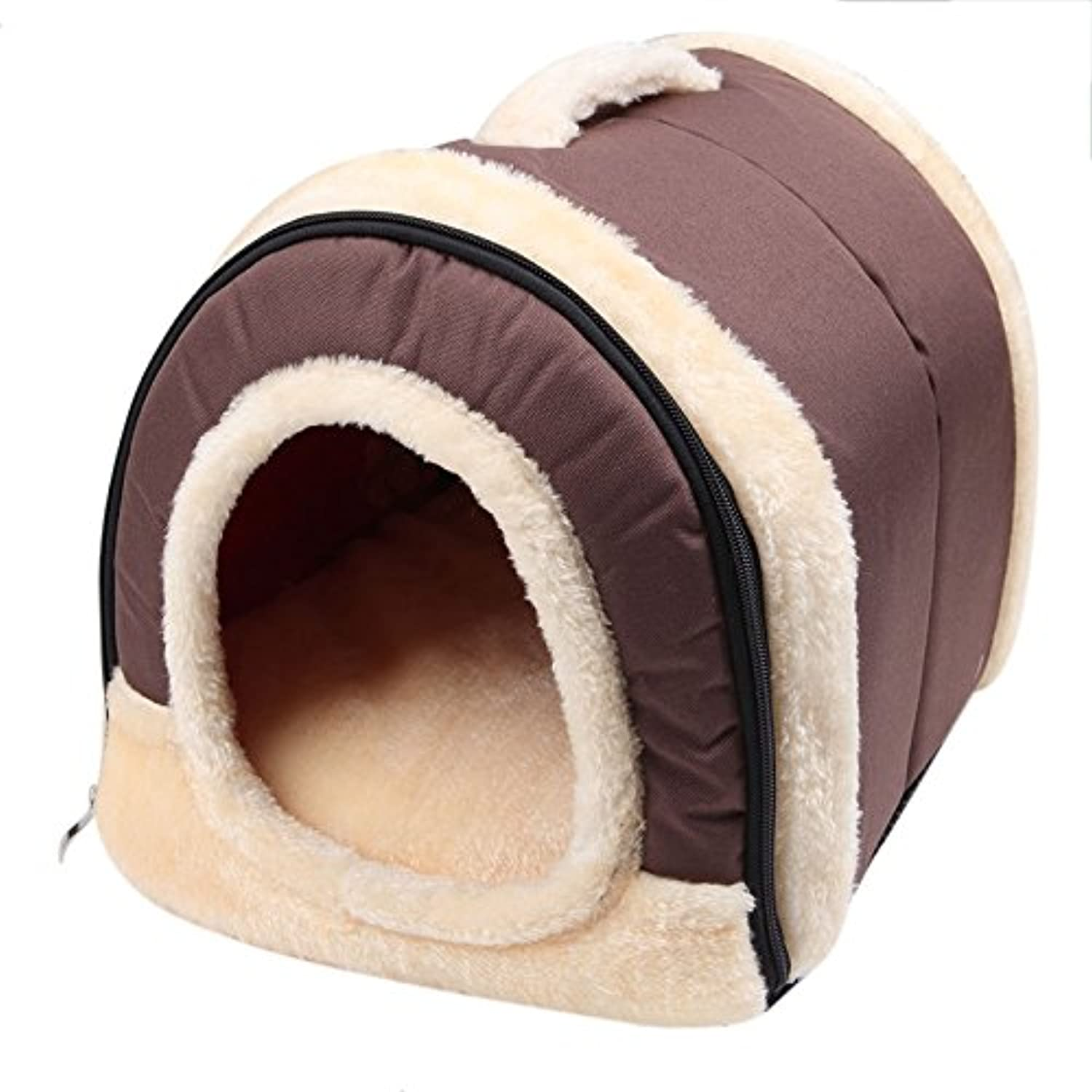 Poity Pet Dog Bed House Kennel DualUse Mat Pad Warm Washable Puppy Soft Cushion