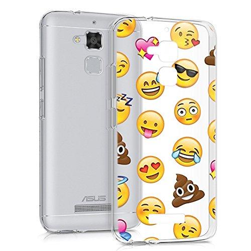 Eouine Funda ASUS Zenfone 3 MAX 5.2, Cárcasa Silicona 3D Transparente con Dibujos Suave TPU Impresión Patrón Bumper Case Cover Fundas para Movil ASUS Zenfone 3 MAX 5.2 ZC520TL (Emoji)