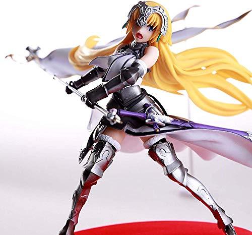 KIJIGHG Fate Night Ondeando la Bandera Posicin de Lucha Juana de Arco SEBA s Figura Figura de Anime Figuras de accin Modelo de Personaje de Anime 20CM